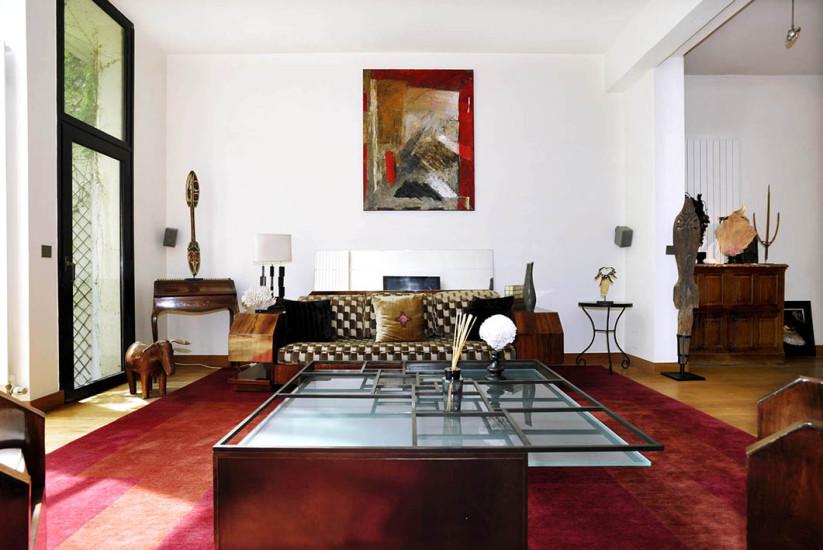 Hôtel particulier- Rive Droite-salon et table basse