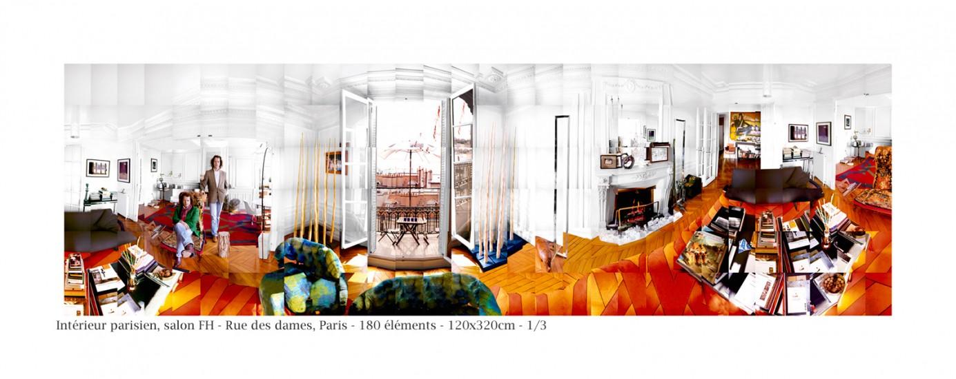 fragmentations-méta-images-Intérieur parisien, portrait de F.H. à son appartement,75017 Paris ©PascalTHERME