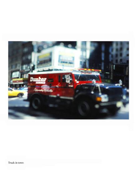 New-York Memories-Downtown Manhattan- Red Truck