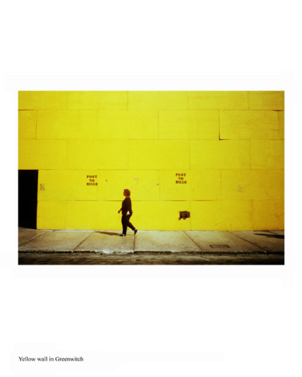 New-York Memories-Yellow wall in Greenwitch