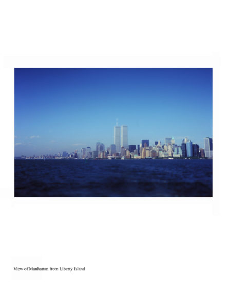 New-York Memories- view of Manhattan from Liberty Island