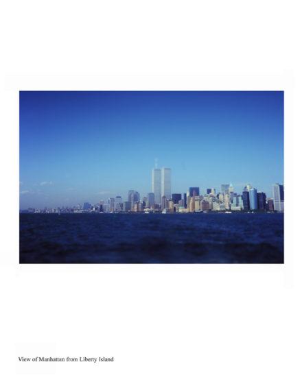 New-York Memories- view of Manhattan from Liberty Island