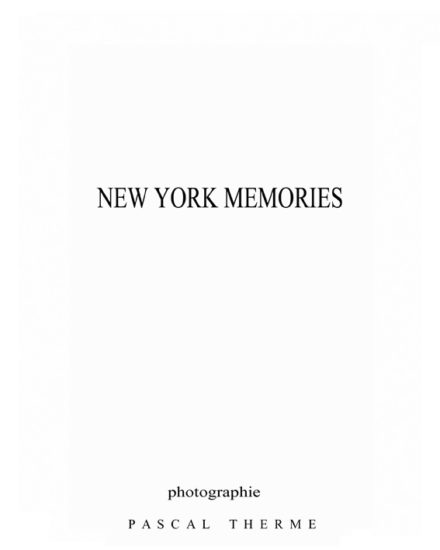 New York Memories- the book