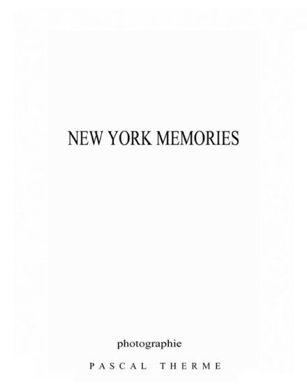 New York Memories- the book