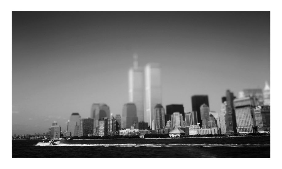 ny-memories-the twin's tower from the fairy to Liberty Island