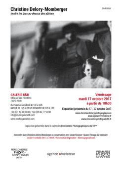 invitation vernissage de l'exposition de Christine Delory-Momberger « tendre les bras au-dessus des abîmes »