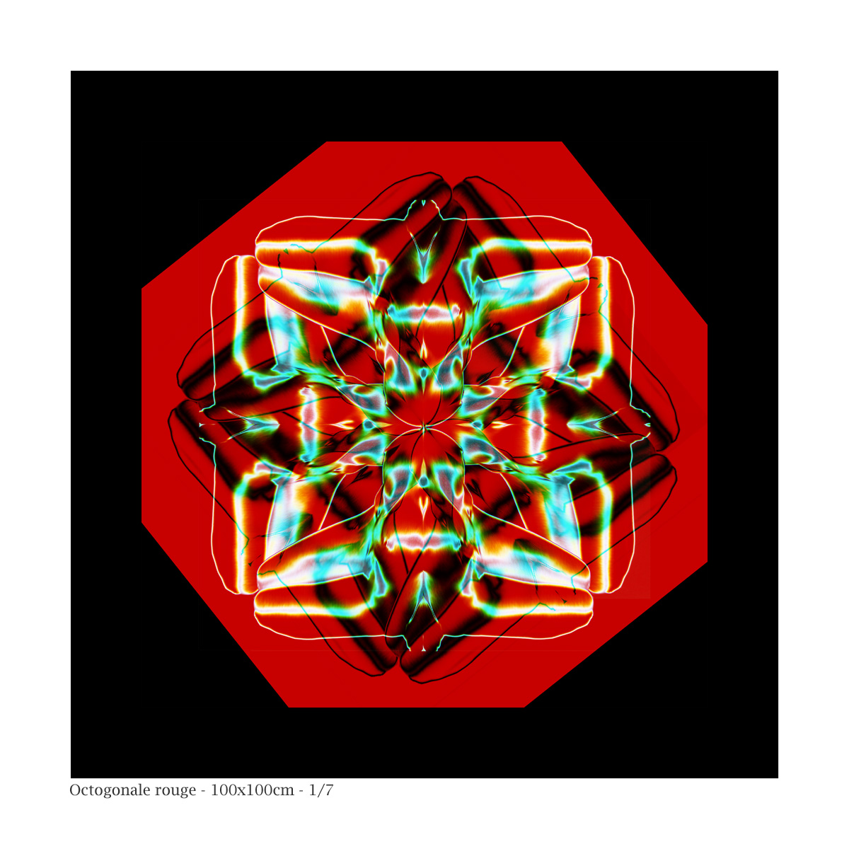 Les Quatre bonzes nus en méditation - Octogone Rouge