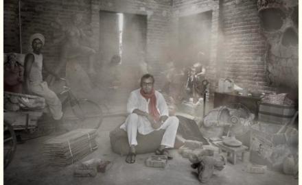 Gérard Rancinan, portrait de Suboth Gupta, Inde.